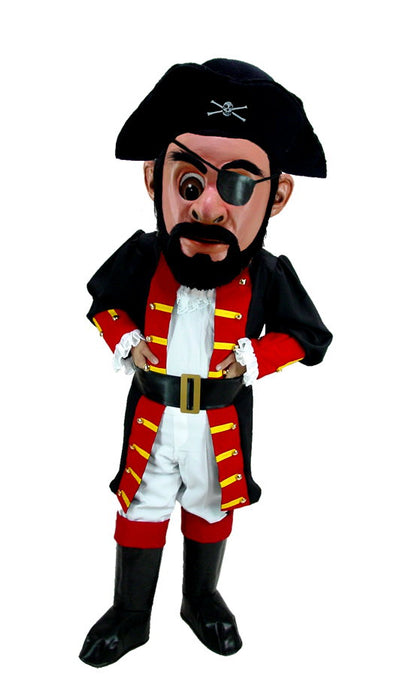 T0296 Captain Blythe Pirate Mascot Costume (Thermolite)