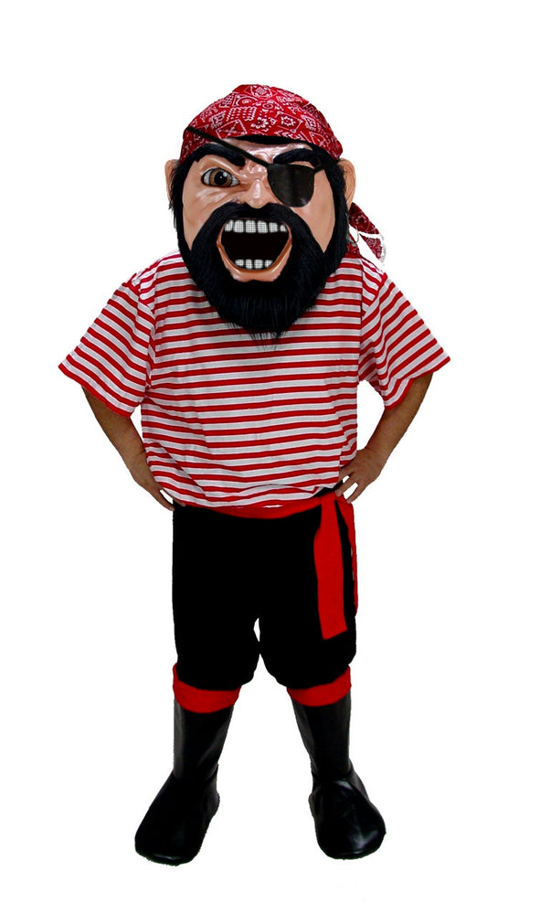 T0297 Col. Keel Haul Pirate Mascot Costume (Thermolite)