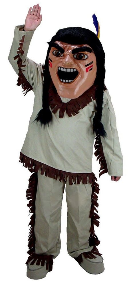 T0302 Brave Indian Mascot Costume (Thermolite)