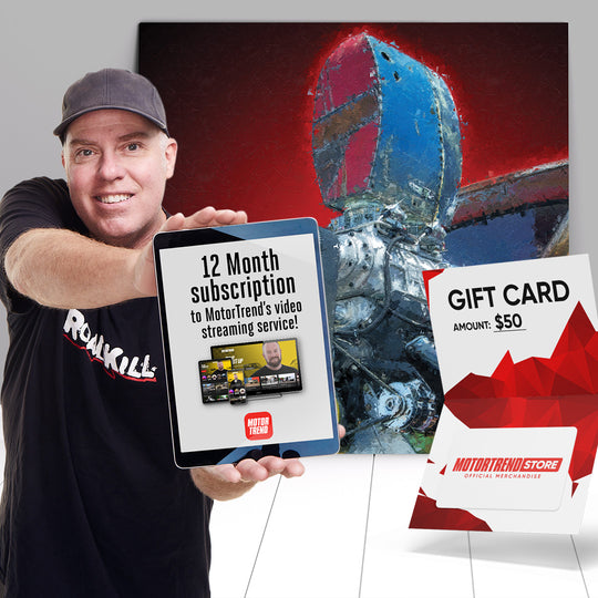 MotorTrend Super Fan Package with One-Of-A-KinD Acrylic Print (1 WINNER)