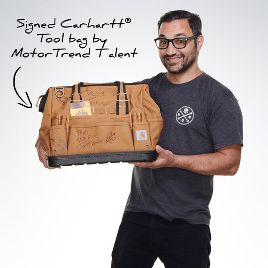 Tool Bag Signed By MotorTrend Talent