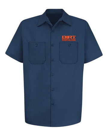 Dirt Every Day Logo Work Shirt - Navy - Free Gift With Purchase