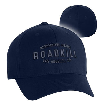Roadkill Automotive Chaos Hat - Black and Navy Designs