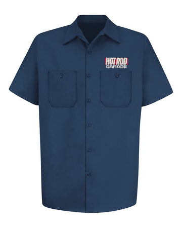 Hot Rod Garage Logo Work Shirt - Navy - Free Gift With Purchase