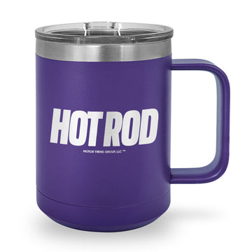 Hot Rod Logo Laser Etched Stainless Steel Coffee Mug