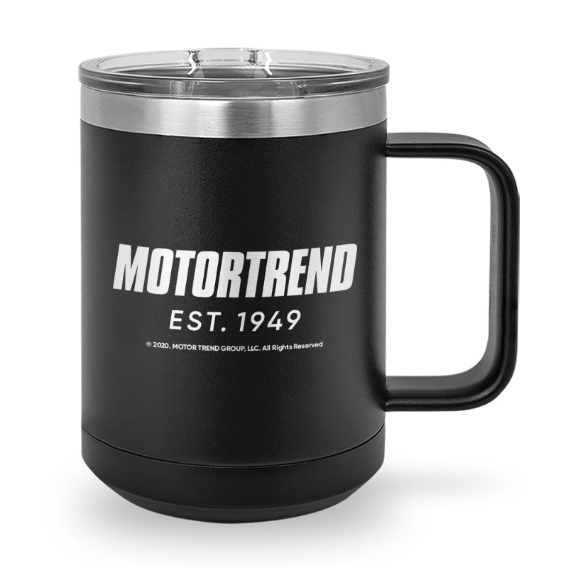 MotorTrend Est. 1949 Laser Etched Stainless Steel Coffee Mug