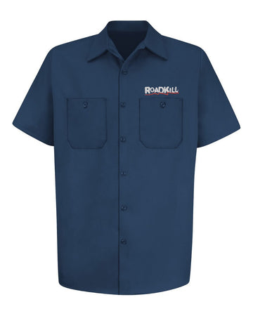 Roadkill Logo Work Shirt - Navy - Free Gift With Purchase