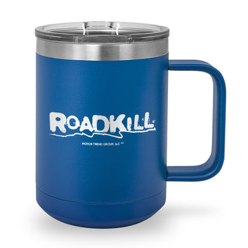 Roadkill Logo Laser Etched Stainless Steel Coffee Mug