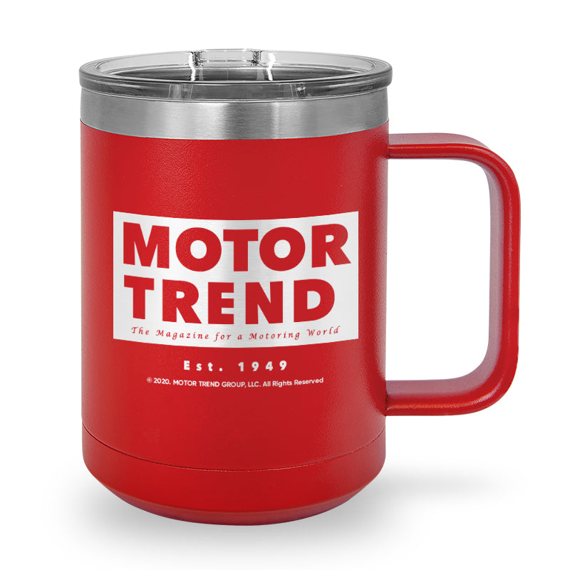 MotorTrend - Vintage Laser Etched Stainless Steel Coffee Mug