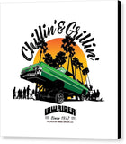 Chillin' & Grillin' - Canvas Print