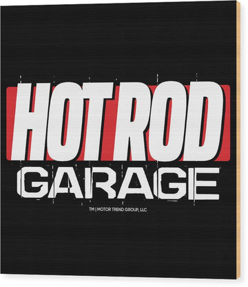 Hot Rod Garage - Wood Print