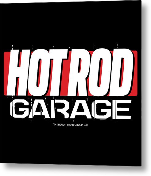 Hot Rod Garage - Metal Print