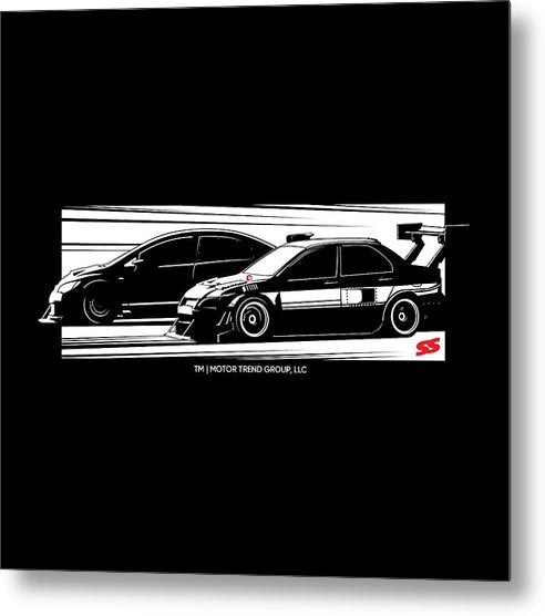 Super Lap Battle - Metal Print