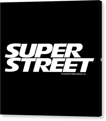 Super Street Logo - Canvas Print
