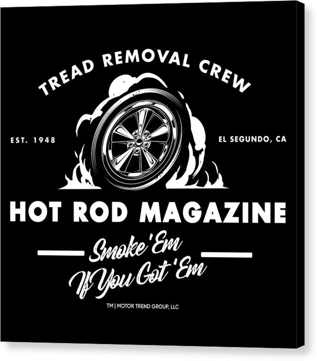 Tread Removal Crew - Canvas Print