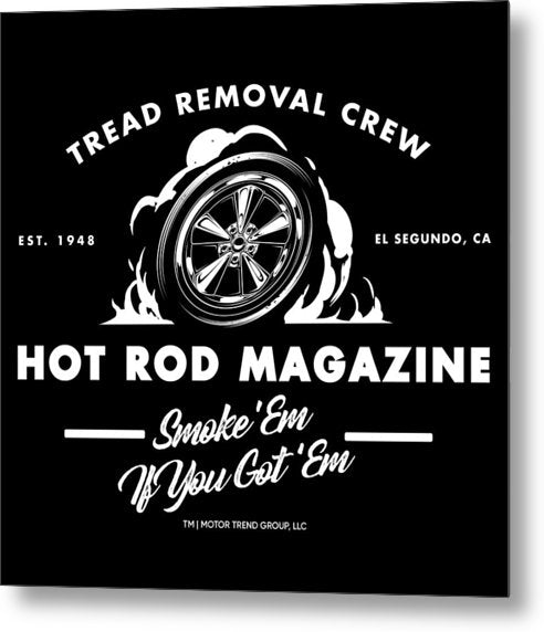 Tread Removal Crew - Metal Print