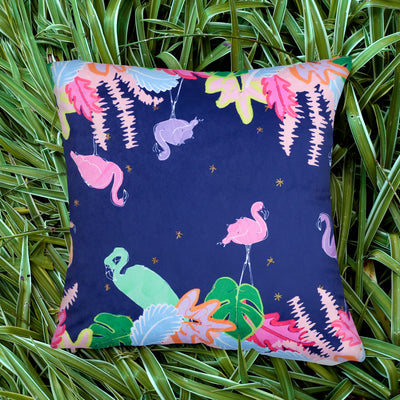Flamingo Jungle Explorer Cushion Cover