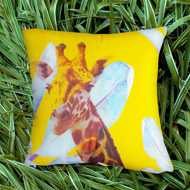 Radiant Giraffe Explorer Cushion Cover
