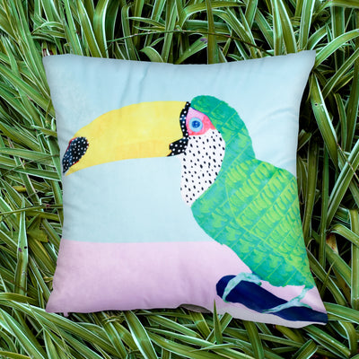 Chilling Toucan Explorer Cushion Cover