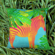 Aqua Zebra Cushion Cover