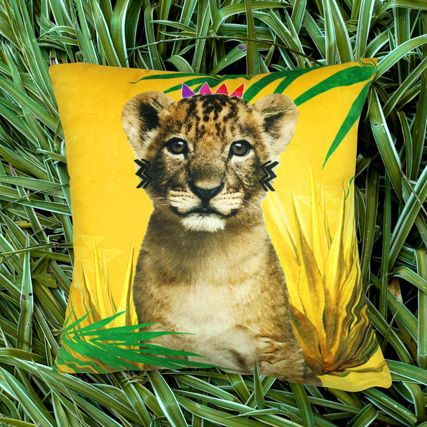Curious Simba Cushion Cover