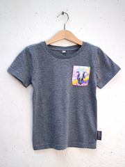 Kids Grey T with Proud Tembo Pocket