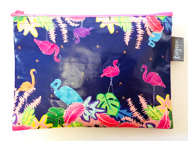 Flamingo Jungle Pouch
