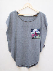 Womens Grey T with Maasai Earth Pocket