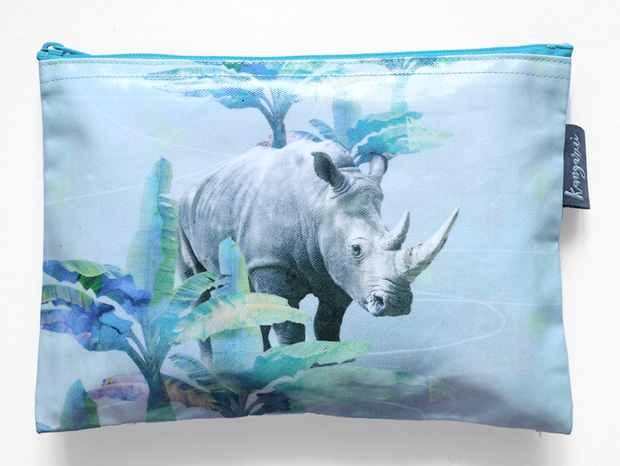 Holiday Rhino Pouch