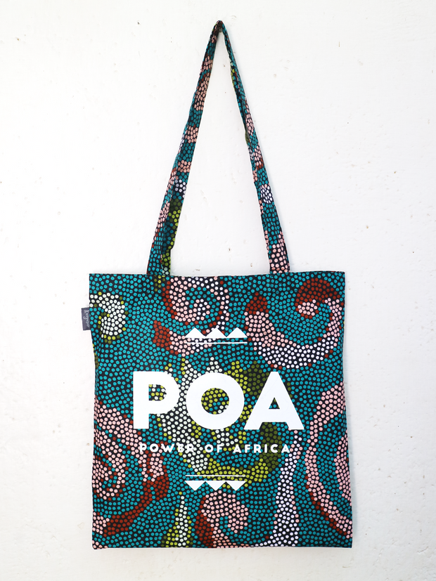 Dotted Turquoise POA Tote