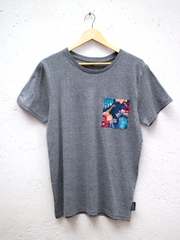 Unisex Grey T with Midnight Safari Pocket