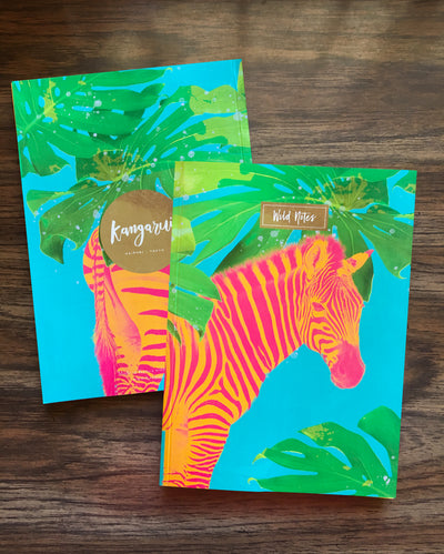 Aqua Zebra Notebooks