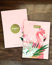Floral Flamingo Notebook