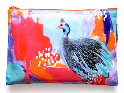 Optimistic Guinea Fowl Pouch