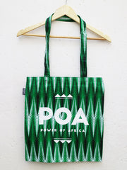 Green x Black POA Tote