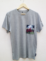 Unisex Grey T with Maasai Earth Pocket