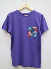 Unisex Purple T with Midnight Safari Pocket
