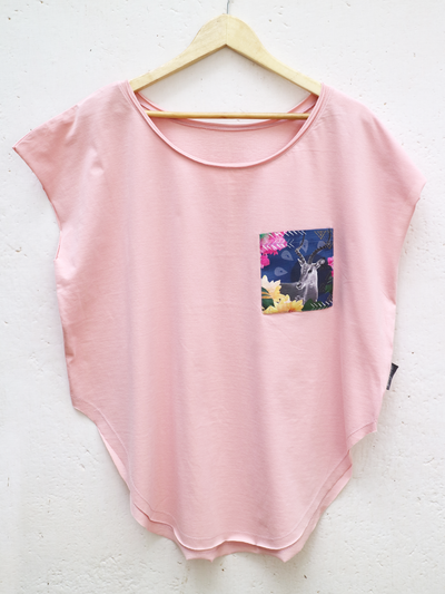 Womens Pink T with Midnight Impala Pocket