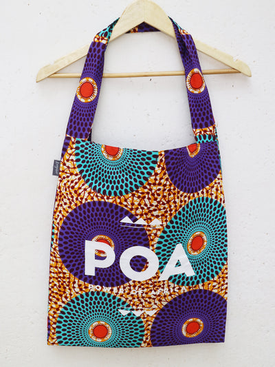 Purple x Dotted Discs POA Double Shopper