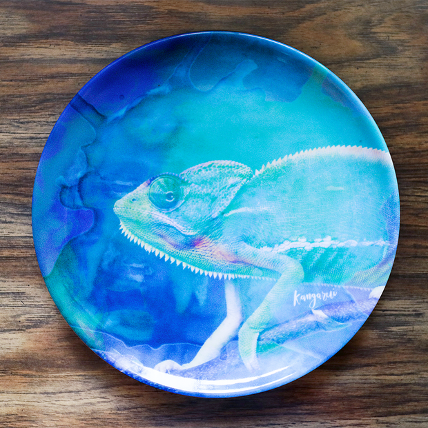 Curious Chameleon Adventure Plate