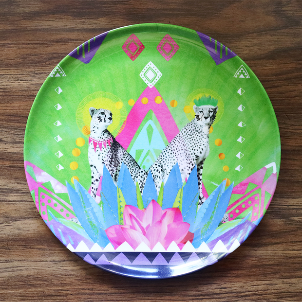 Festive Cheetah Adventure Plate