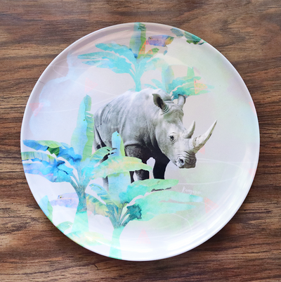 Holiday Rhino Adventure Plate