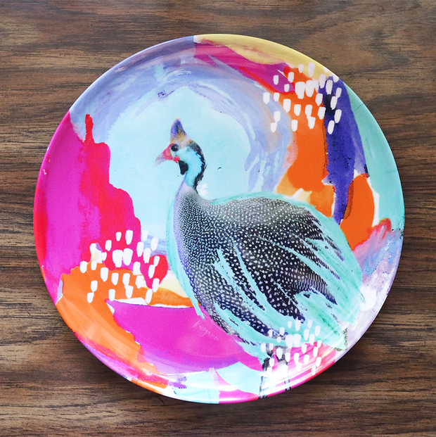 Optimistic Guinea Fowl Adventure Plate