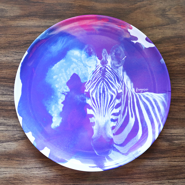Purple Zebra Adventure Plate