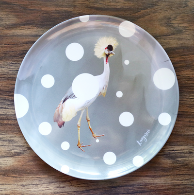 Quirky Crown Bird Adventure Plate