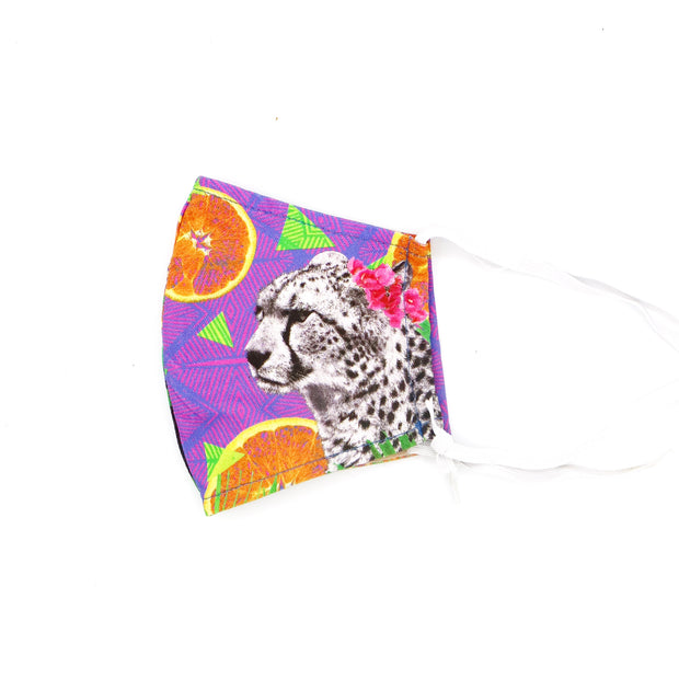 Citrus Cheetah Happy Art Mask