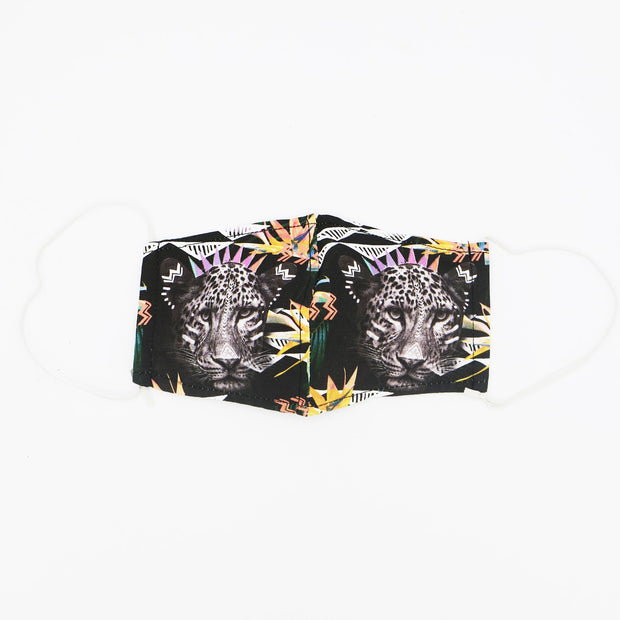 Fierce Leopard Happy Art Mask