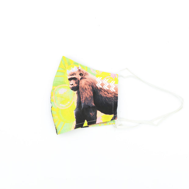 Tropical Gorilla Happy Art Mask