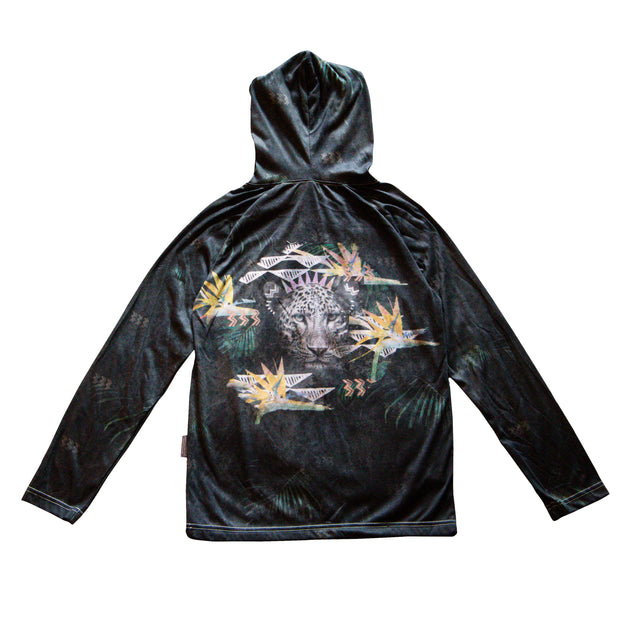 Unisex hoodie with Fierce Leopard Print