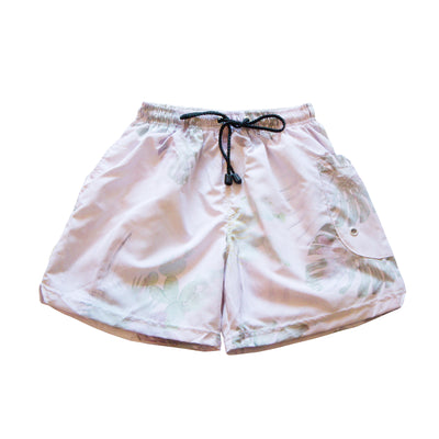 Unisex shorts with Tropical Beige Print